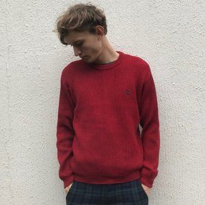 Vintage Oversized Timberland Red Mens Sweater XXL